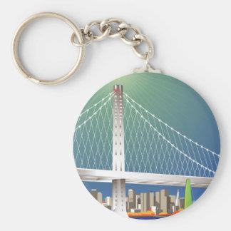 Porte-clés Nouveau Oakland paysage urbain de pont de baie de