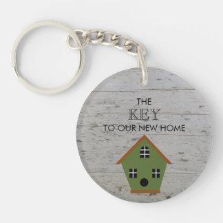 Porte-clés Nouvelle clé à la maison de volière à notre