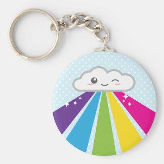 Porte-clés Nuage de Kawaii et porte - clé d'arc-en-ciel