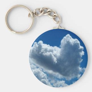 Porte-clés Nuage en forme de coeur