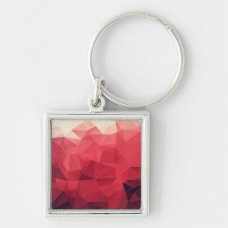 Porte-clés Nuances de motif géométrique de facettes
