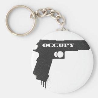 Porte-clés Occupez le noir d'arme à feu de balle en