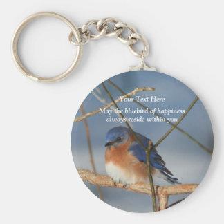 Porte-clés Oiseau bleu de porte - clé inspiré de bonheur