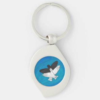 Porte-clés Ombre Eagle sur le bleu