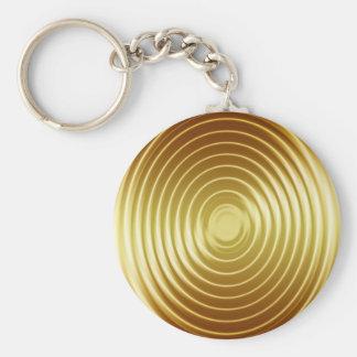 Porte-clés Ondulations d'or de fréquence