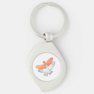 Porte-clés Orange d'Eagle de silhouette de main