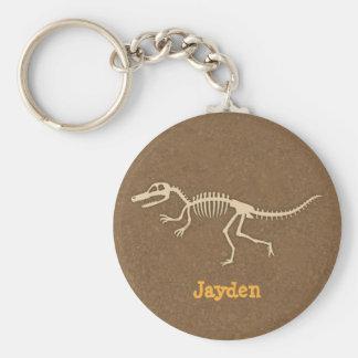 Porte-clés Os de dinosaure frais de Velociraptor pour des