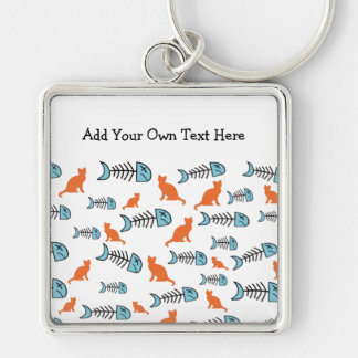 Porte-clés Os de poissons et porte - clé géniaux de chat -