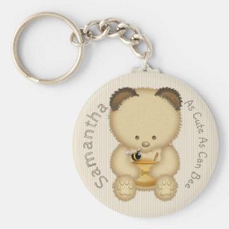 Porte-clés Ours de miel mignon
