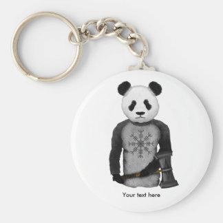 Porte-clés Ours panda avec le marteau du Thor
