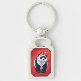 Porte-clés Ours panda dans le casquette de Père Noël sur le