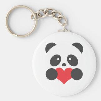 Porte-clés Panda avec un coeur