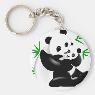 Porte-clés Panda de mère et porte - clé de panda de bébé
