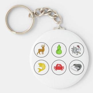 Porte-clés Panneau de jeu de collection de crabe de crevette