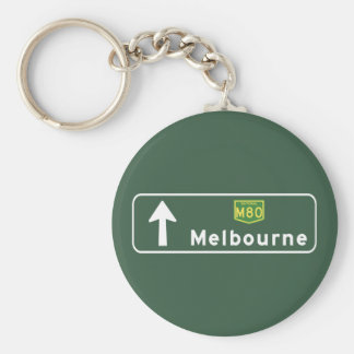 Porte-clés Panneau routier de Melbourne, Australie