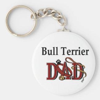 Porte-clés PAPA de bull-terrier