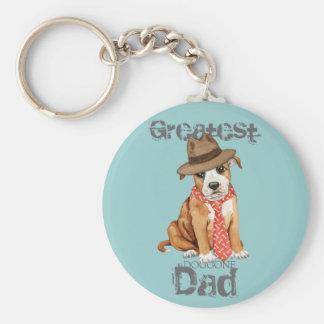Porte-clés Papa de bull-terrier du Staffordshire