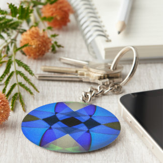 Porte-clés Papillon bleu