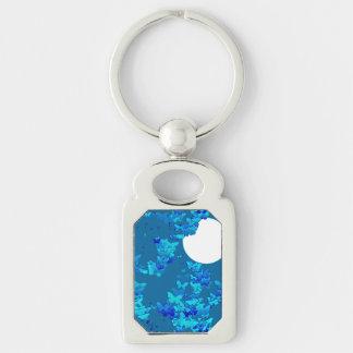 Porte-clés Papillons contre le ciel nocturne bleu, paysage