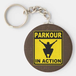 Porte-clés Parkour dans l'enseigne d'action