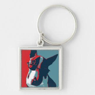 Porte-clés Parodie politique de bull-terrier