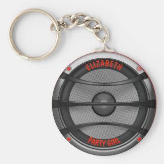 Porte-clés Partie de danse bruyante d'orateur de musique