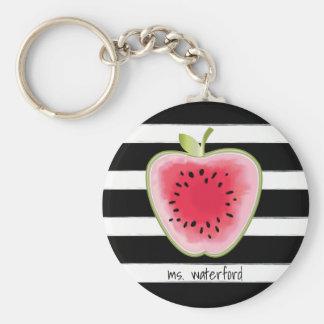 Porte-clés Pastèque Apple StripesTeacher