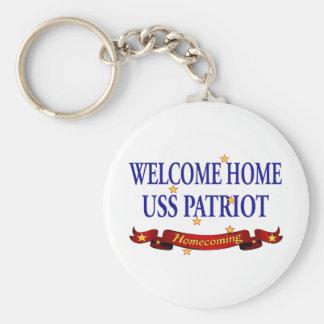 Porte-clés Patriote à la maison bienvenu d'USS