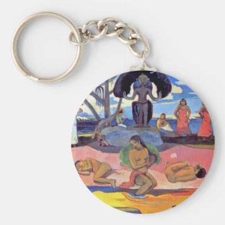 Porte-clés Paul Gauguin - jour des dieux - peinture de