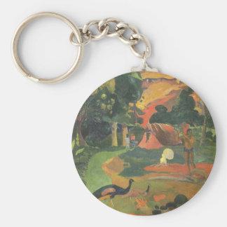 Porte-clés Paysage avec des paons par Paul Gauguin