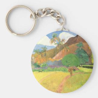 Porte-clés Paysage de Tahitian, montagnes Tahiti, Paul
