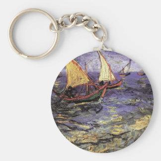Porte-clés Paysage marin de Van Gogh chez Saintes Maries,