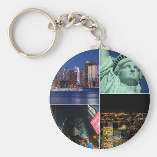 Porte-clés Paysage urbain de photo de collage de New York