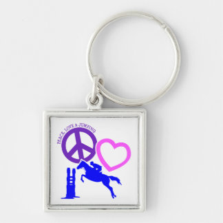 PORTE-CLÉS PEACE-LOVE-JUMPING