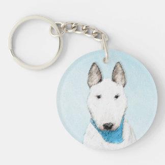Porte-clés Peinture de bull-terrier - art original mignon de