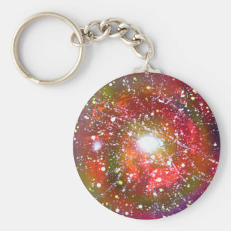 Porte-clés Peinture de l'espace de ciel nocturne d'art de