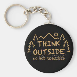 Porte-clés Pensez dehors, aucune boîte requise