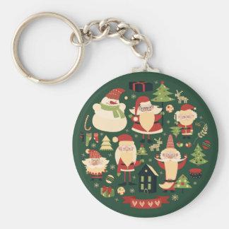 Porte-clés Père Noël doux à la maison