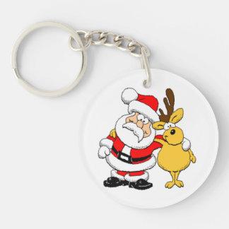 Porte-clés Père Noël et renne