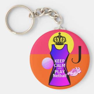 Porte-clés Personnalisé gardez le net-ball de calme et de jeu
