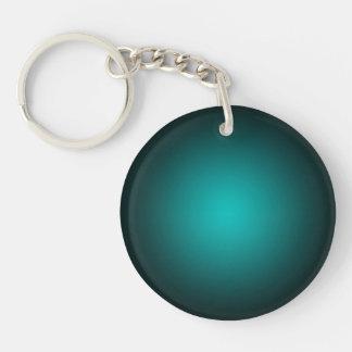 Porte-clés Personnalisez - l'arrière - plan turquoise de