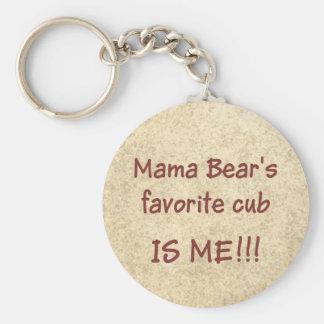 Porte-clés Petit animal préféré de maman Bear's
