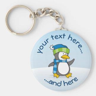 Porte-clés Petit pingouin marchant sur la neige