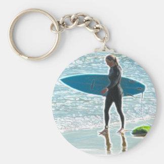 Porte-clés Petite fille de surfer