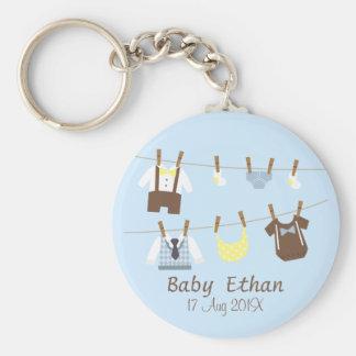 Porte-clés Petits cadeaux de douche de bébé de monsieur