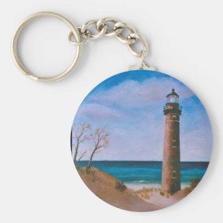 Porte-clés Peu de porte - clé de phare de point de sable