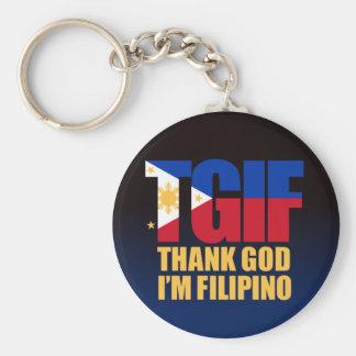 Porte-clés Philippin de TGIF avec le drapeau philippin