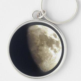 Porte-clés Photo lunaire d'astronomie de demi-lune