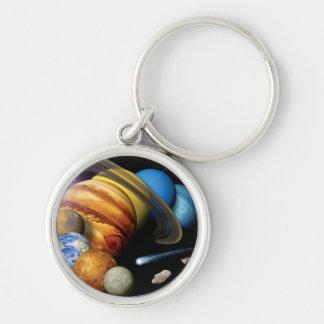 Porte-clés Photos de l'espace de montage de planètes de