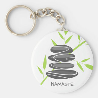 Porte-clés Pierres de caillou de zen empilant des porte -